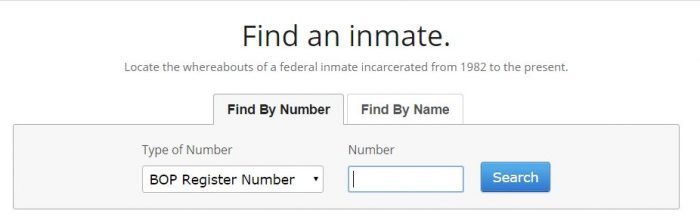 Federal Inmate Search by Inmate Number